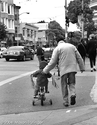 training wheels, san francisco, urban, family, dad, father, son, father son, lifestyle, people, photographer, photography, pictures, fotos