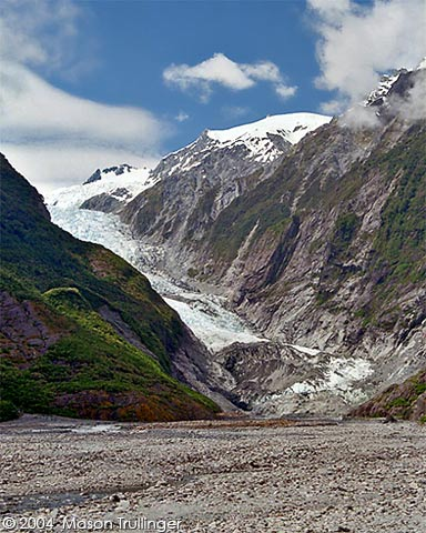 southern alps, franz, franz josef, josef, glacer, mountains, river, trees, forest, new zealand, south island, wellington, queenstown, auckland, nz, landscape, travel, photographer, photography, pictures, fotos